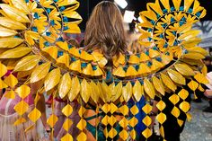 janaïna milheiro crafts intricate feather wings for victoria's secret fashion show