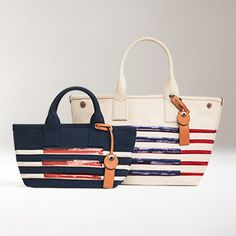 Marc Jacobs Large Tote Stripes is a cotton tote bag with a bold stripe  pattern. dfd77d6edb6