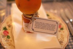 My sister-in-law's beautiful wedding - Orange marmalade