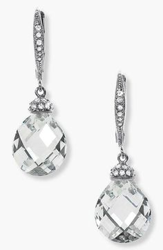 Free shipping and returns on Nadri Faceted Crystal Drop Earrings at Nordstrom.com. Faceted briolettes dangle from glittering pavé, lever-back earrings.