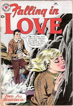 Falling in Love Valentines Day Gift, Romance comic. 1960 DC Comics in VG Comic Book Covers, Comic Books, Romantic Comics, Love Cover, Silver Age Comics, Pulp Art, Vintage Comics, Falling In Love, Comic Art
