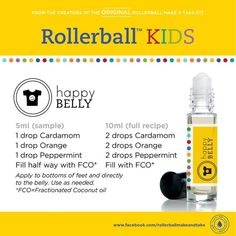 Kids essential oil roller bottle recipe: happy belly!