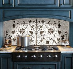 Savannah Surfaces can revamp your kitchen from top to bottom! Our sales team can help you come up with a design that will take your kitchen from bland to glam with new floor tiles, a new backsplash, a modern and functional faucet and sink, and a pop of color with an Aga stove.