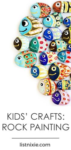 10 DIY painted rock craft projects your kids will love - Painting river stones is a fun and frugal way to encourage kids' creativity. Here are some painted rock ideas to get them started. | listnixie.com #ArtAndCraftCreative