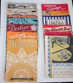 #Doilies #Edgings Crochet 13 Booklets Magazines Instruction Chart #Patterns VIntage