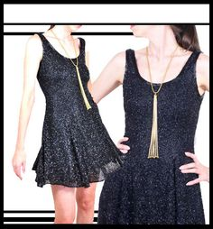 1980s Beaded Tank Mini Dress / 80s Beaded Party by recollectvint
