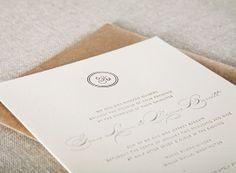 letterpress wedding invitations by Alee & Press: love