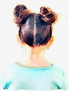 DIY Top Knot Print - easy, fast (1 minute) and cheap