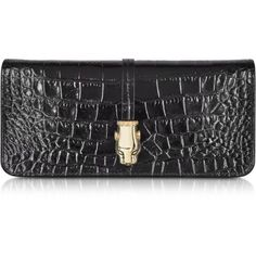 Class Roberto Cavalli Daphne Croco Print Leather Clutch with Wallet and other apparel, accessories and trends. Browse and shop related looks.