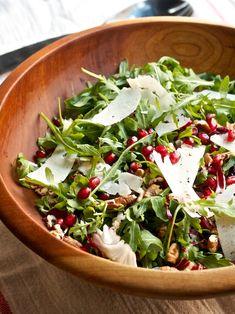 Arugula & Radicchio Salad with Pomegranate, Pecans, and Pecorino by @Cara / Big Girls, Small Kitchen