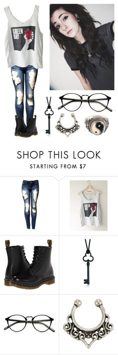 """""""*duck getting run over by a tractor noises*"""" by xxkrysxx ❤ liked on Polyvore featuring Dr. Martens, Tiffany & Co., grunge, alternative and greenday"""
