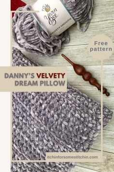 Want to sleep on a cloud? This velvet crochet pillow is what you are looking for! Soft, smooth and simply perfect for snoozing and cuddling, plus, it is great for beginners! It uses only one stitch, so it is super easy and quick to work up. #crochetpillow #velvetyarn #homedecor #throwpillow #freepattern #crochetpattern #giftidea #crochetinspiration