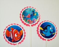 12 Finding Nemo Cupcake Toppers/ Birthday Party/ Cake Toppers/ Birthday