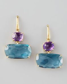 Murano Amethyst & Blue Topaz Earrings by Marco Bicego at Neiman Marcus.