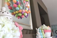 Easter Fireplace Decor