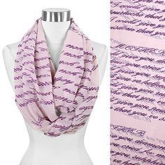 Message Infinity Scarf - Mother - Lavender | Fahsye Fashion Accessories Boutique