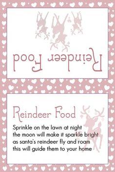 Reindeer Food light Red Hearts