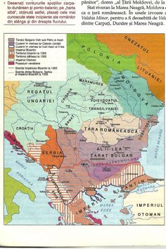 Map of Romania and neighboring countries in 1355.