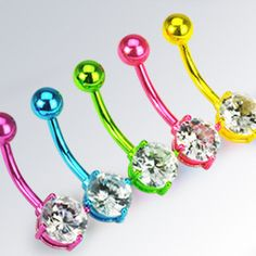 neon belly rings!!!!! :D
