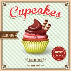 1000+ images about Retro Cupcake Art on Pinterest ...
