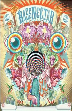 Art Print poster for Bassnectar. 11 X 17 inches on card stock.