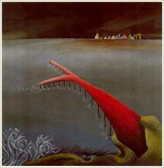 "s t e l l a  s n e a d; 	Snake Tongue Pier, 1989, Oil on Canvas, 12"" x 12"""