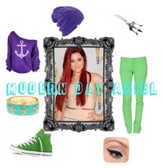 """""""Ariel"""" by artemisfollower on Polyvore featuring M Missoni, Converse, Fornash, Once Upon a Time, Coal and LORAC"""