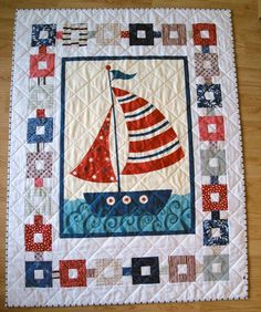 This quilt was a lot of fun to finish. There's just something about red, white, and blue that is so uplifting and cheerful.      The design ...