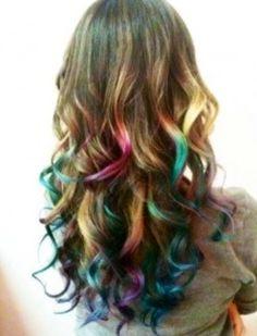 Fun multi colored hair done right!!!