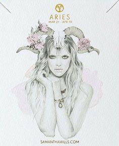 aries ▵ kelly smith (illustration) samantha wills (jewelry design)