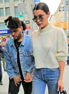 Just the two of us: The beautiful brunette model was hand-in-hand with the 25-year-old singer while they painted the town red
