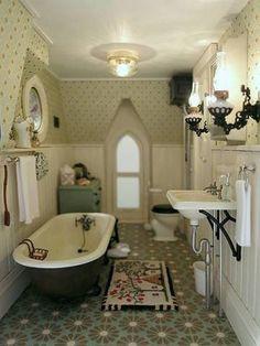 Vintage farmhouse bathroom - The Haunted Heritage - Gallery - The Greenleaf Miniature Community