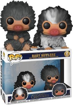 Fantastic Beasts The Crimes Of Grindelwald - Baby Nifflers Black and Grey Funko Pop! Pop Figurine, Figurines Funko Pop, Funk Pop, Funko Pop Display, Film Manga, Fantastic Beasts 2, Funko Pop Dolls, Disney Pop, Pop Toys
