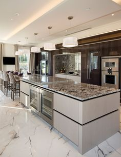 Sarah Ward Associates - House & Garden, The List Luxury Kitchen Design, Kitchen Room Design, Contemporary Kitchen Design, Best Kitchen Designs, Luxury Kitchens, Home Decor Kitchen, Interior Design Kitchen, Kitchen Ideas, Open Plan Kitchen Living Room