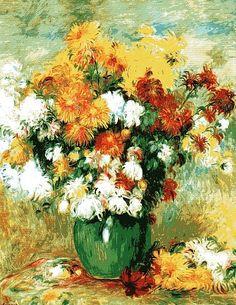 """Pierre-Auguste Renoir, """"Bouquet of Chrysanthemums"""" (1884)"""