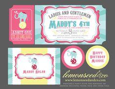 Printable DIY Circus Birthday, Circus Baby Shower, Carnival Invitations, Circus Invitations Ticket Invitation, Baby Shower Invitations on Etsy, $30.00