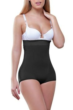 Gina Strapless Hip Hugger by Vedette 935 - If youre ready to tighten your tummy with a shaper that hugs your beautiful hips, youve got to see the Gina Strapless Hip Hugger Strapless Body Shaper by Vedette. This waist shaper has a great high waist design offers excellent midsection shaping without the need for straps. This is an extremely versatile shaper. Low necklines are no problem, but if you need straps a set has been included.And if youre worried about your shaper flattening your fanny…