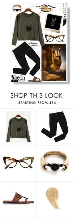 """""""Karana Mudra"""" by stormypeterson ❤ liked on Polyvore featuring Polaroid, Bardot, Pamela Love, Emilio Pucci, NARS Cosmetics, Sheinside, groupcontest and shein"""
