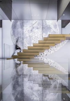 A design that is out of this world! We love it! #HLYTRNTY #holytrinitylights #design #architecture #stairs 3d Design, Design Ideas, House Design, Office Signs, Discount Interior Doors, Design Projects, Interior Design Inspiration, Blinds, Luxury Homes