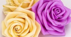 Creating a Delicate Rose of Foamiran Paper Flowers Craft, Paper Roses, Felt Flowers, Flower Crafts, Fabric Flowers, How To Make Foam, Rose Tutorial, Diy Tutorial, Purse Patterns Free