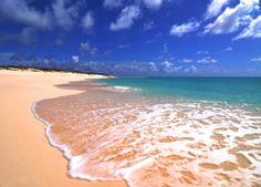Traipsing around the beach on the Turks and Caicos Islands.