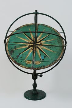 "Very rare antique astronomical instrument, iron and paper, didactic use: it's an armillary sphere and sundial together, signed ""Verlag von Ernst Schotte & Co. Berlin W."" (edited by Ernst Schotte & Co. Berlin W.) and ""Schul Armillarsphere Konstruiert von H. Albrecht Lehrer Berlin"" (didactic armillary sphere made by Professor H. Albrecht Berlin), second half XIX century. Good condition. Height cm 60 – inches 23.64, diameter cm 45 – inches 17.73."