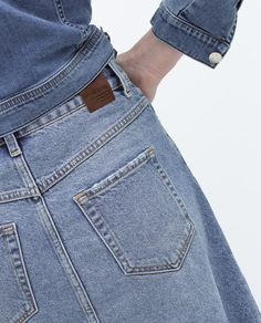 Image 6 de JUPE LONGUE ÉVASÉE de Zara Zara, Blue Jeans, Pants, Fashion, Skirt, Woman, Trouser Pants, Moda, Trousers