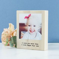 Personalised Mini Wood Photo Block Polaroid   Create Gift Love £19  Providing a beautiful way to display a very special photo, our blocks have the image printed directly onto the wood offering a unique textured aesthetic.  http://www.creategiftlove.co.uk/collections/personalised-mothers-day-gifts/products/personalised-mini-wood-photo-block-polaroid  #mothersdaygifts #personalised #creategiftlove