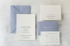Kate & James Wedding Invitations  |  Blind letterpress printing