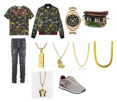 """""""Famous dex 😻😼"""" by giais ❤ liked on Polyvore featuring Gucci, Balmain, Michael Kors, Roial, The Gold Gods, Saucony, men's fashion and menswear"""