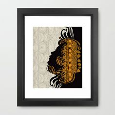 Tribal Dreams by Pom Graphic Design & Viviana Gonzalez Framed Art Print by Pom Graphic Design  - $35.00 #poster #print #home #decor #tribal #dreams