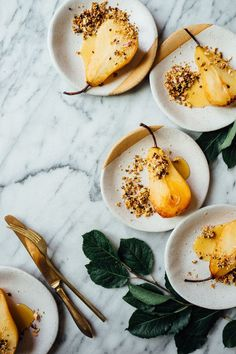 Poached pear goodness.