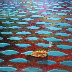 Fantastici colori del lago in una domenica di primavera. - Nel sito artistico GIUSEPPESTICCHI.IT trovi opere, gallerie, informazioni, news, eventi, rece...