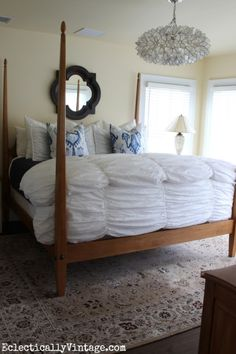 How to Dress a Bed - great tips and tricks!  eclecticallyvintage.com